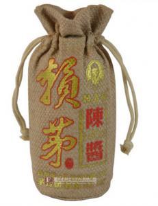 麻布拉绳酒袋3